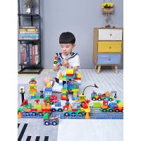 儿童汽车积木大颗拼装益智男孩女孩多功能玩具城市系列