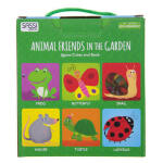 【正版直发】英文原版4 CUBES BOOK ANIMAL FRIENDS IN THE GARDEN4个方 Engl
