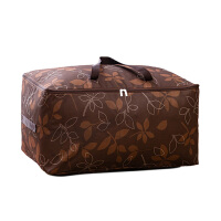 优芬加厚牛津布 棉被袋 100升特大号被子衣物收纳袋 整理袋软收纳箱 咖啡树叶70*42*35