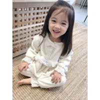 冬季 秋冬季儿童睡衣女童宝宝暖和家居服女孩洋气珊瑚绒套装秋冬新款