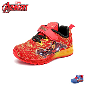 【139元任选2双】迪士尼Disney童鞋18新款儿童运动鞋漫威英雄男童学生鞋织布透气休闲鞋 (5-10岁可选) VA3091