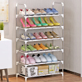 索尔诺/防锈钢管 收纳架 层架 架子储物架 6层简易鞋架xj-A06
