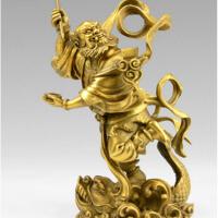 魁星踢斗书房家居装饰品工艺品铜魁星点斗摆件