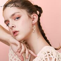 仿珍珠流苏个性耳环长款耳线气质简约耳坠女耳饰品