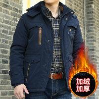 棉衣男冬季加绒加厚保暖外套青年男士宽松大码中长款棉服纯色潮