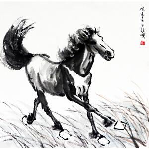 徐悲鸿  骏马图  国画大师