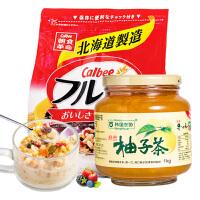 卡乐比水果麦片500g+韩国农协韩国农协进口蜂蜜柚子茶1kg