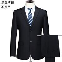 王子中年男士西服套装爸爸西装商务休闲正装加肥加大西服套装 170B / 2尺6腰