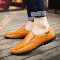 DAZED CONFUSED 男士豆豆鞋男头层皮低帮驾车鞋套脚韩版休闲百搭皮鞋