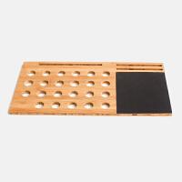 竹木平板笔记本电脑散热器 手机支架手提电脑垫散热底座板 原木色56*28CM