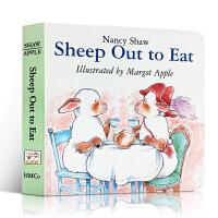 低幼儿童绘本书籍 Sheep Out to Eat 羊在外面吃 英文原版读物