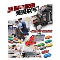 手提收纳盒2-6岁 儿童大号货柜车玩具合金汽车模型套装男孩小货车