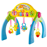 儿童健身架婴儿玩具0-1岁牙胶摇铃多功能宝宝学步健身器脚踏钢琴