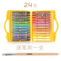 20190408011118164油画棒36色24色旋转蜡笔水溶性儿童画笔彩绘套装幼儿园彩笔可水洗宝宝48色彩色油化批