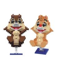 兼容乐高微钻小颗粒积木拼装儿童男女孩玩具玛丽礼物 典雅黑 花栗鼠9056