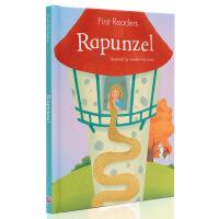 长发公主 正版 英文原版绘本 First Reader Rapunzel 长发公主 精装 精装