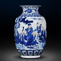 陶瓷仿古花瓶中式客厅玄关瓷器摆件