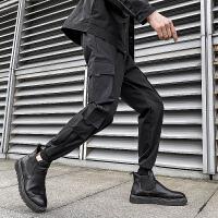 春款男休闲裤束脚裤运动裤哈伦裤子九分裤工装 长裤