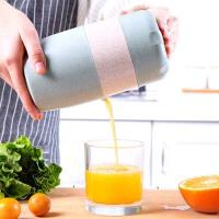 泰蜜熊手动榨汁机迷你橙子压榨机简易榨汁机家用水果小型食品级pp+小麦材质健康环保