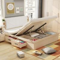 【限时直降 质保三年】现代倾心高箱床软包床头储物床 双人床1.8米收纳床储物床1.5米