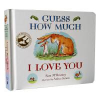 英文原版 Guess How Much I Love You 猜猜我有多爱你 廖彩杏书单绘本 儿童启蒙益智认知早教纸板