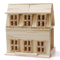 儿童木制积木玩具宝宝早教1-2岁3-6周岁8男孩9女孩
