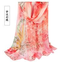 丝巾女 春季百搭新款2018年薄款杭州丝绸 围巾雪纺纱巾夏