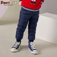 【3件3折 到手价:209】Pawinpaw卡通小熊童装冬男女童长裤羽绒裤中小童白鸭绒
