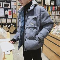 男士ins超火的宽松棉衣冬季潮流棉袄子韩版外套工装2018新款