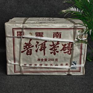 【4片】2006年左右云南普洱茶砖7561(吾印茶品)珍稀普洱熟茶 250g/片