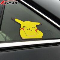 kucar创意个性比皮卡丘汽车贴纸车窗玻璃装饰贴动漫卡通划痕遮挡