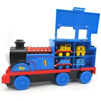 大号音乐惯性托马斯小火车合金磁铁性链接回力轨道玩具汽车模型 含8个小火车送电动火车头和轨道