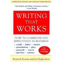 【预订】Writing That Works, 3e: How to Communicate
