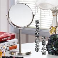 双面梳妆镜随身便携镜子台式化妆镜 8寸超大号高清宿舍书桌公主镜