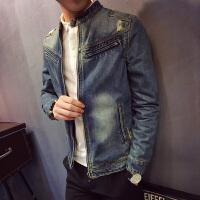 新款牛仔夹克男士牛仔外套潮春秋季青年衣服休闲韩版修身型牛仔衣