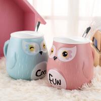 创意超萌马克杯大容量杯子陶瓷咖啡带杯盖勺韩版女学生喝水杯家用