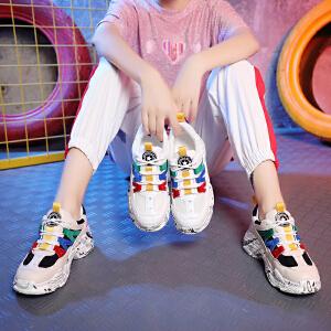 鞋子女运动鞋女休闲鞋女单鞋女老爹鞋女2018秋季新款韩版ulzzang原宿百搭跑步鞋309DTH