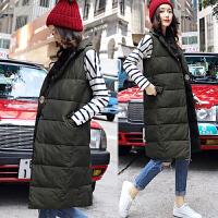 201803302547905棉衣马甲女士外套冬季新款女装韩版中长款加厚棉衣外套女潮羽绒棉