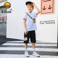 【4折价:127.6】B.Duck小黄鸭童装男童短裤针织5分裤105-150 BF2052910