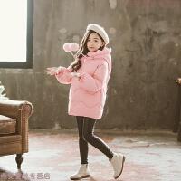 女童棉衣冬装2018新款小女孩韩版洋气中长宝宝棉袄加厚羽绒潮