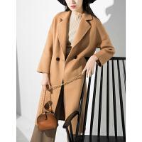 冬装女士厚实款中长款H型阿尔巴卡双面呢大衣毛呢外套N1/3/45