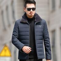 男士棉衣中年2018新款40爸爸冬装外套加厚50岁中老年人60冬季