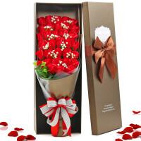 卡通仿真花束香皂玫瑰花礼盒肥皂花送女友同学玫瑰花束情人节礼物惊喜的创意节日礼品