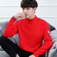 毛衣男韩版半高领加绒加厚冬季帅气男士针织衫潮学生毛线衣服保暖