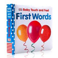 DK出版社英文原版绘本 First Words (Baby Touch and Feel) 初识单词儿童纸板触摸书亲子