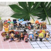 万代海贼王手办全套海贼航海造型王路飞索隆手办玩具扭蛋玩偶Q版公仔模型摆件 包