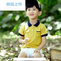 童装儿童polo衫夏季男童短袖t恤韩版纯棉翻领中大童打底衫上衣潮