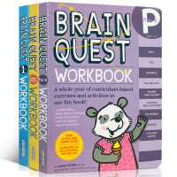 【全店300减100】正版 英文原版 Brain Quest 少儿智力开发练习册 Workbook系列 3册合售 初阶