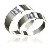 梦克拉 pt950铂金钻石情侣对戒结婚戒指 爱的诺言 铂金婚戒