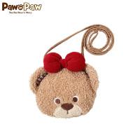 【520儿童节 2件4折 到手价:103】PawinPaw卡通小熊童装新款女婴宝宝熊头婴幼儿零钱出游包